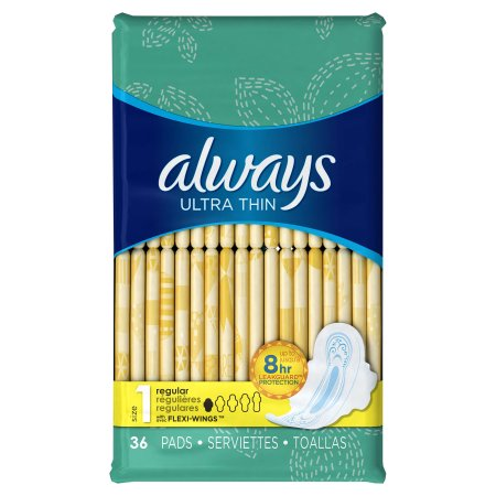 Always Thin Ultra Maxi Pads with Wings - 36/Pkg - 22029