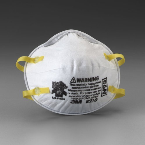 Dust Comfort Mask 8000, N95, OSHA and NIOSH Approved - 20/Pkg