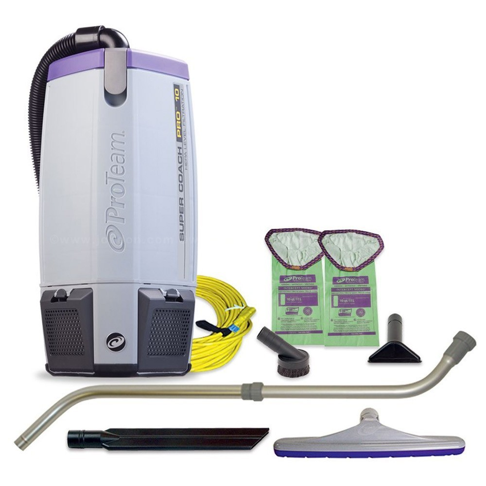 ProTeam Super Coach Pro Backpack Vacuum with Xover Tool Kit, 6 qt Tank -  107310
