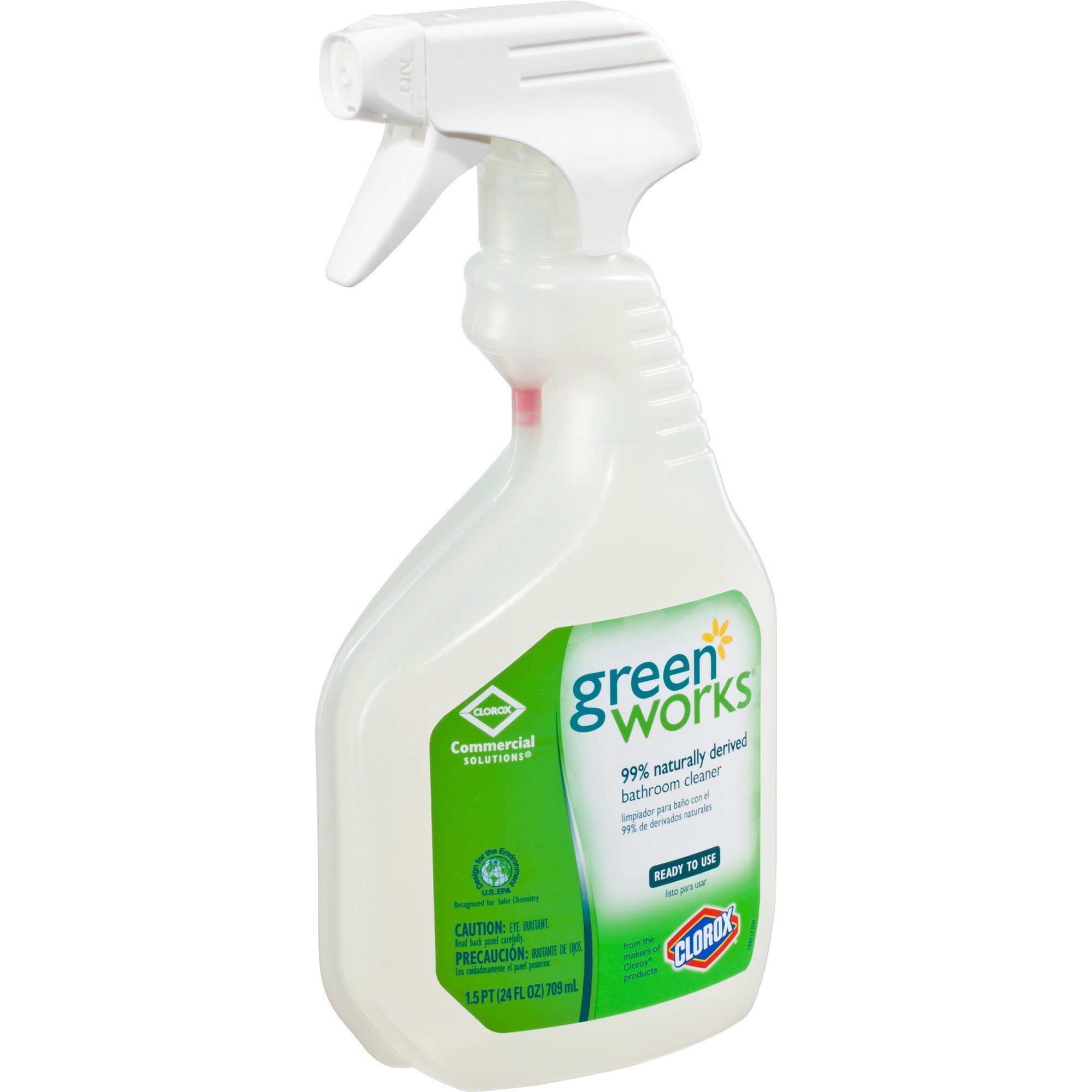 Clorox Commercial Solutions Green Works, Bathroom Cleaner, Natural 24 Oz - EACH - GREEN