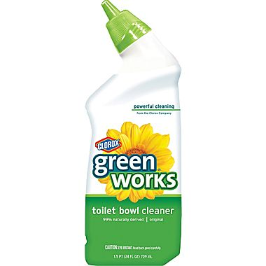 Clorox Commercial Solutions Green Works, Toilet Bowl Cleaner, #00451, Natural 24 Oz - 12/Case - GREEN