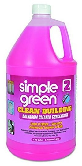 Simple Green Bathroom Cleaner, Building  #2  Concentrate, Gallon - 2/Case - GREEN