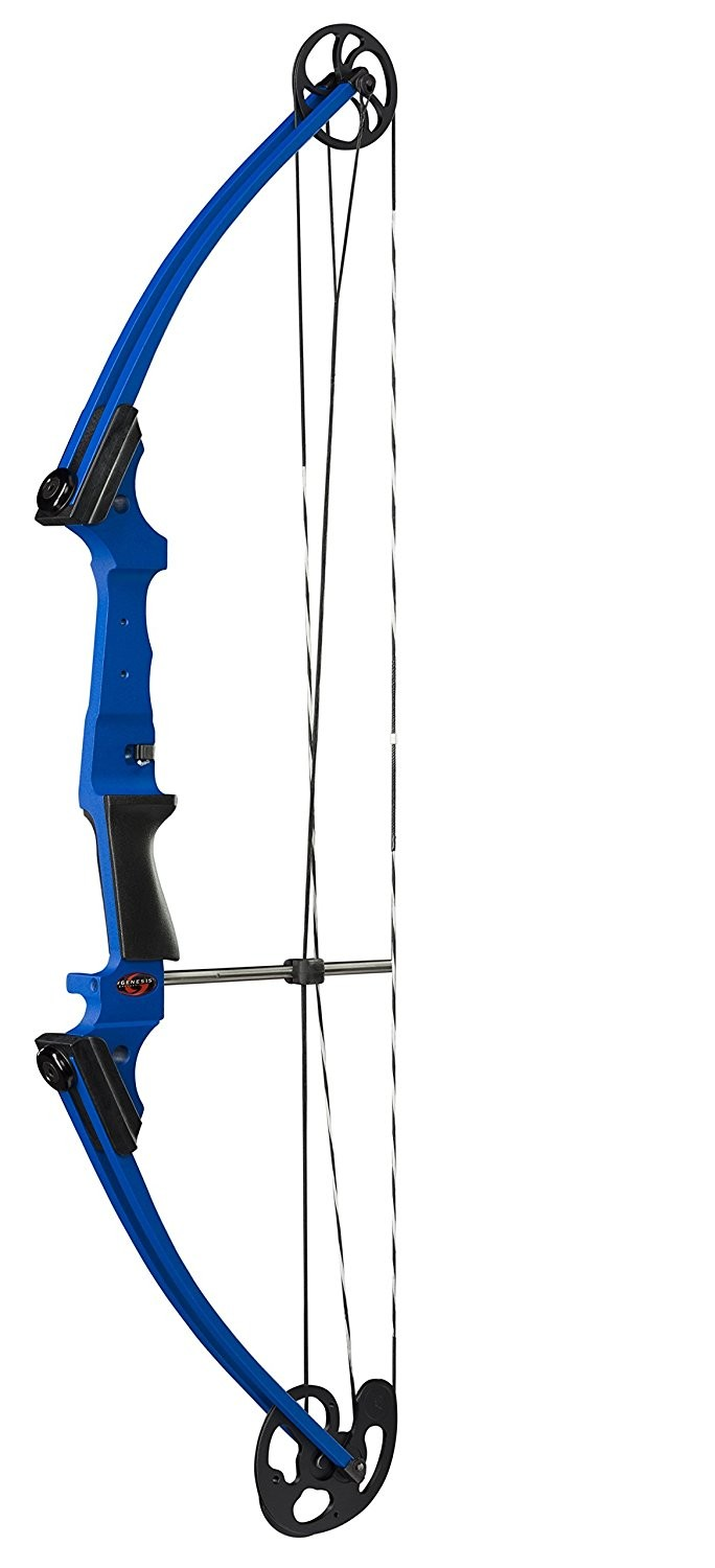 "Genesis Compound Bow, NASP, 15 - 30"" Draw Length, 10 - 20 lbs Draw, Blue, LEFT Handed"