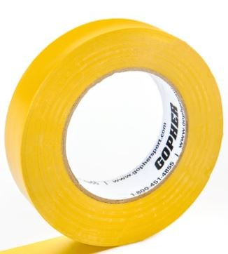"1"" X 60 Yds Floor Marking Tape, Yellow"