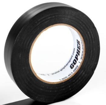 "1"" X 60 Yds Vinyl Floor Marking Tape, Black"