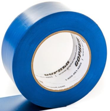 "2"" X 60 Yds Floor Marking Tape, Blue"