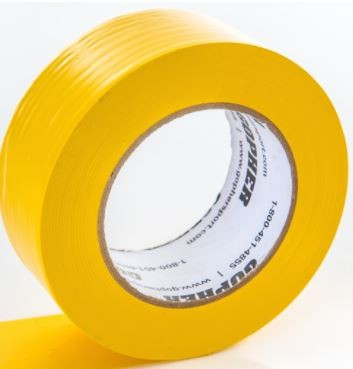 "2"" X 60 Yds Floor Marking Tape, Yellow"