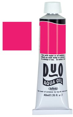 Duo Aqua Oil Color, 40 ml - Brilliant Pink - 216