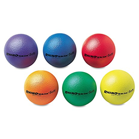 7 Inch SoftiBall Coated Foam Balls, Assorted Colors - 6/Set - 47-503