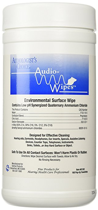 Audio Wipes For Cleaning Headsets - 160/Tub - 49039