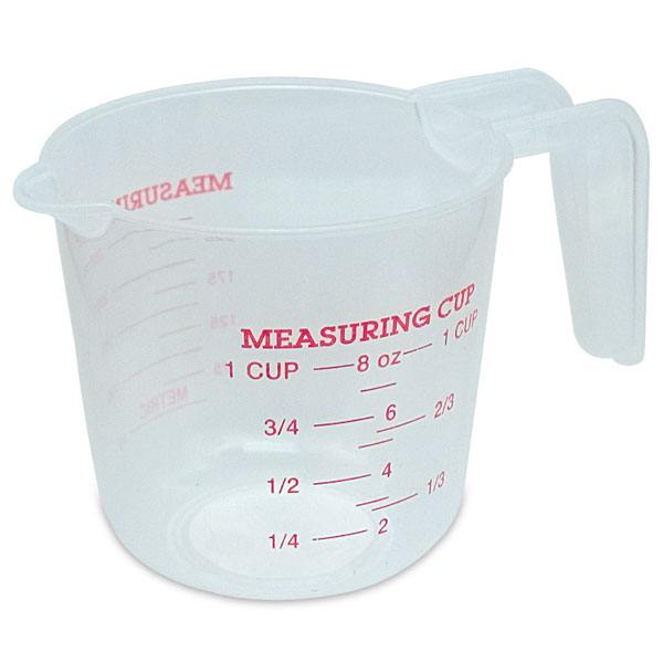 8 Oz Measuring Cup, Polypropylene