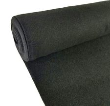 4' X 60' Roll Carpet, Polyester Fabric, Vinyl Back, Color - Beige Tweed