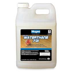 Waterthane Wood Floor Treatment And Dust Mop Water Emulsion Formula, Compatible w/701 Wood Floor Finish, Quart - 12/Case