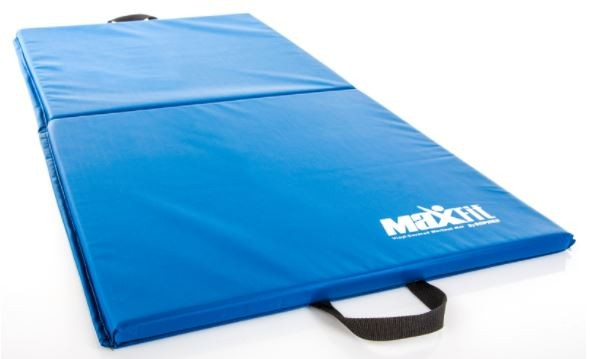 "2' X 4' Maxfit Workout Mat, 1"" thick, Folding, Blue"
