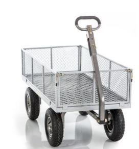Sandusky Lee Heavy Duty Hand Wagon - 1000 Pound Capacity - Green - 89-512