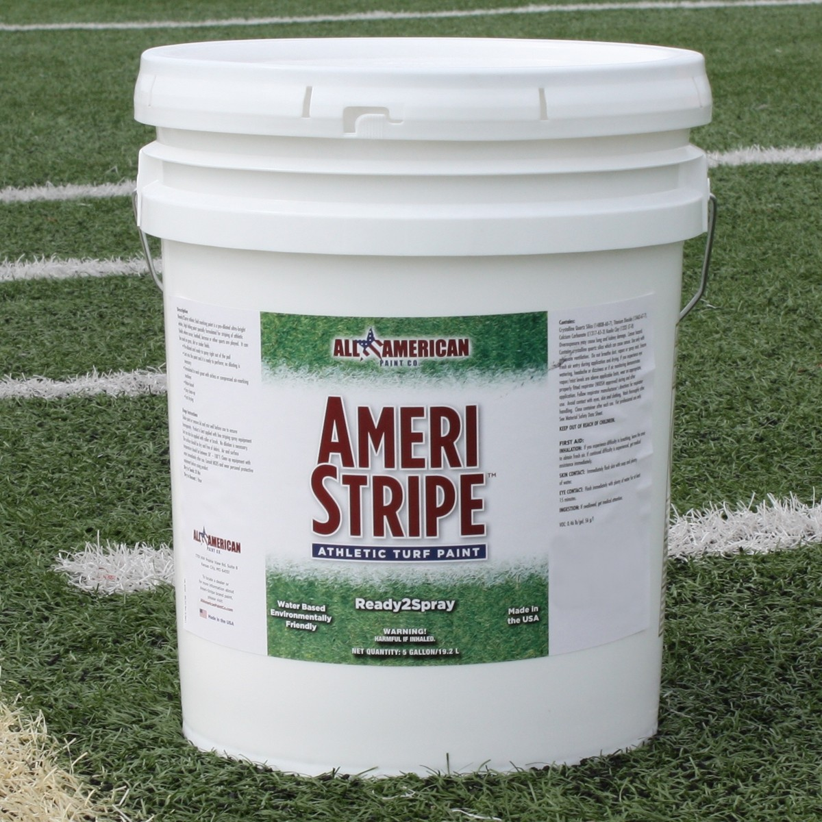 Field Marking Paint, White- 5 Gallon Pail - PreMix