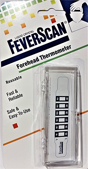 Thermometer Strip, Fever Scan Reusable Forehead Reads in 15 Seconds, Contains No Latex - 13081