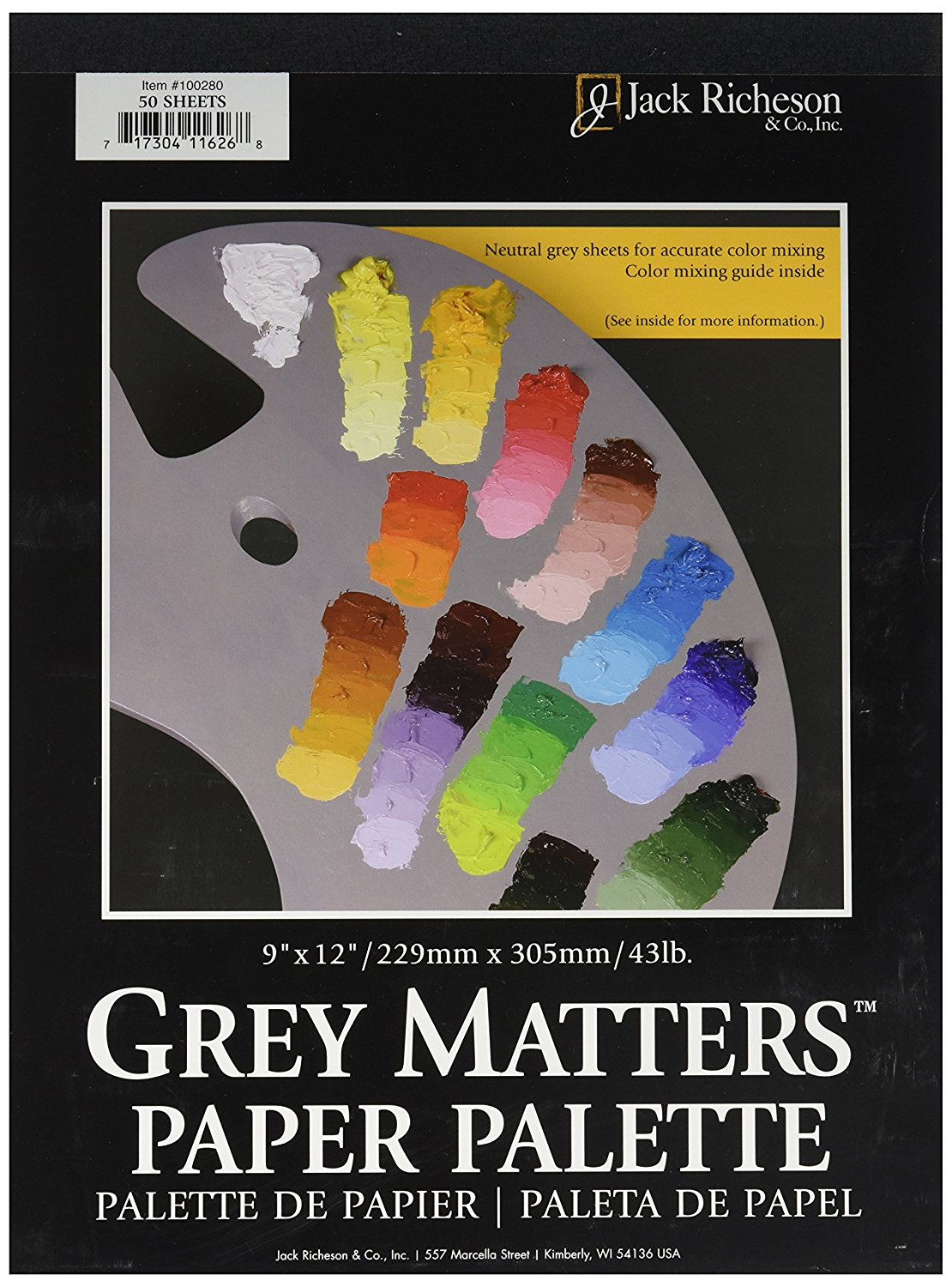 9 X 12 Richeson Grey Matters Paper Palette- 50 Sheets/Pad