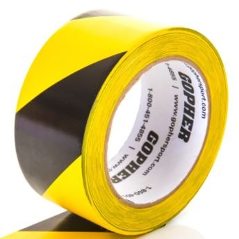 "2"" X 180 Ft Deluxe Vinyl Caution Tape"