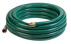 50' X 5/8 Water Hose, Reinforced PVC, 500 PSI, Protective Collar, Brass Conections, Min 7 yr Warranty, Hi-Vis Color