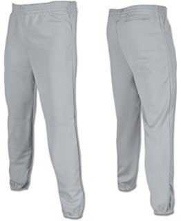 Baseball Pant, Belted Waist, Adult - Gray - XX-Large