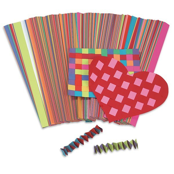 3/4 x 16 Weaving Strips, Assorted Paper - Pkg. of 1,000