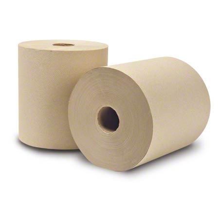 "7.9 X 800 EcoSoft Paper Towels, White 1.9"" core,Tork 218004 - 6 Rolls/Case - GREEN"