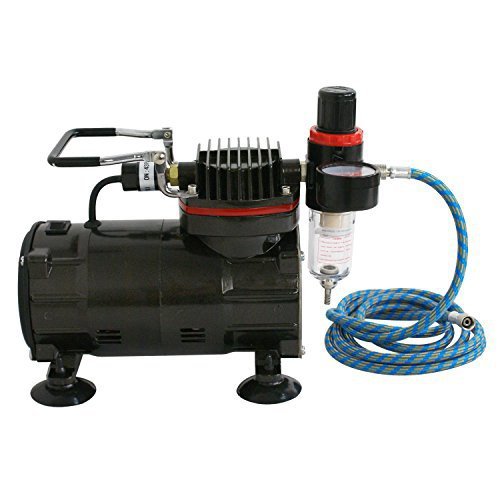 Airbrush Compressor, Single Piston, 1/3 HP, 80 PSI