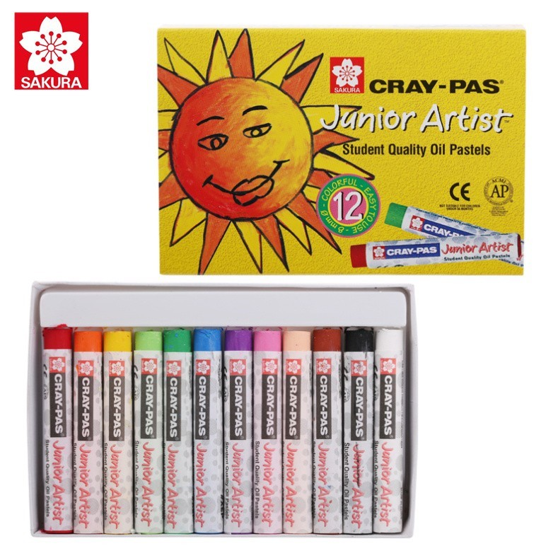 Cray-Pas, Oil Pastels, Sakura Junior Artist - 12/Set