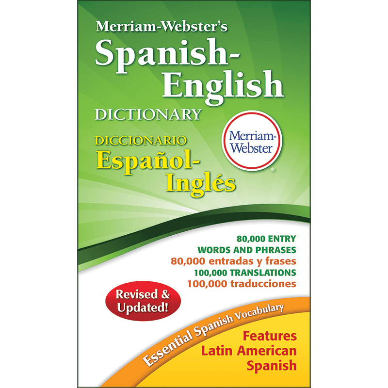 Dictionary Spanish-English Paperback, MER-824-8