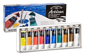 Oil Paint, Winsor & Newton Artisan, Water Mixable, 37ml Tube, 10 Color Studio Set
