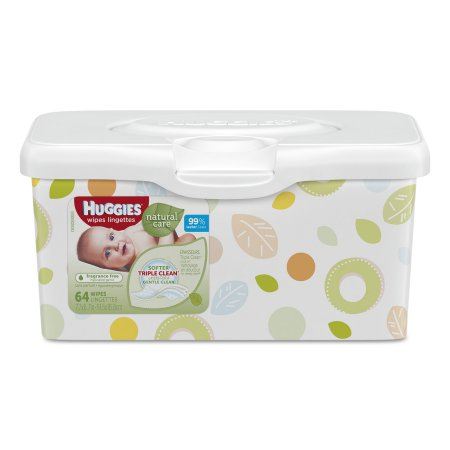 Huggies Baby Wipes, Natural Care, Fragrance-Free - 64/Tub - 1002262