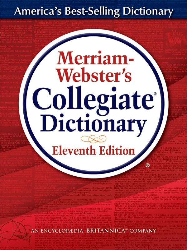 Merriam Webster's Collegiate Dictionary, Includes Free 1-Yr. Online Subscription for Electronic Version