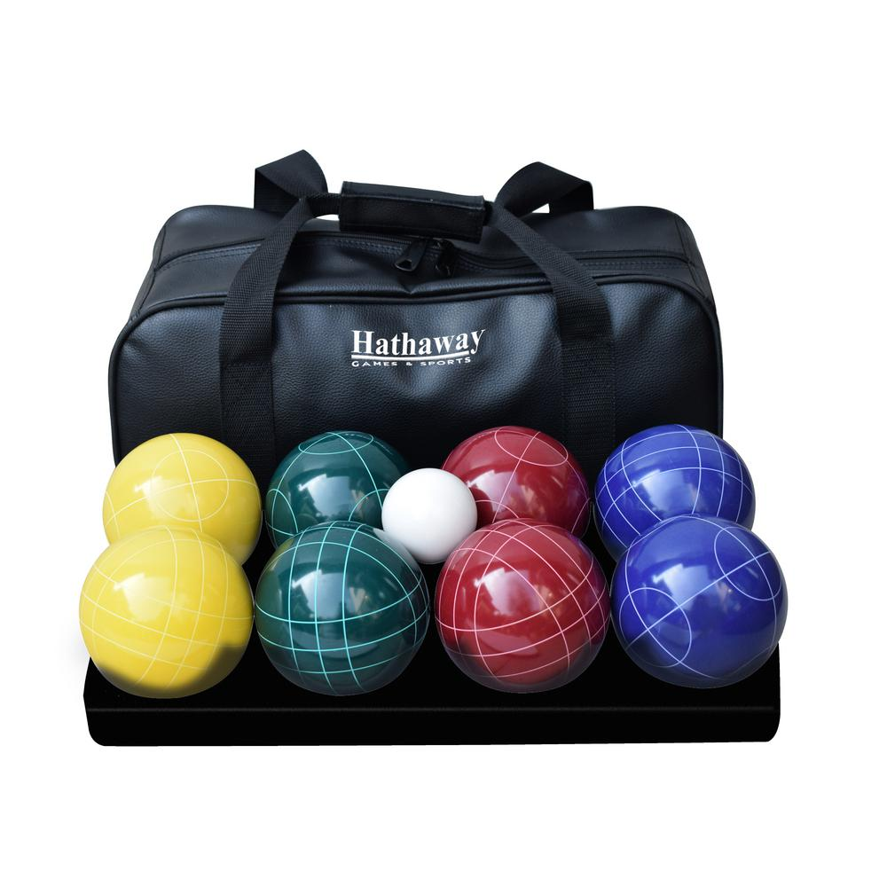 Deluxe Bocce Set, Med Weight Balls, 50 mm, Includes 8 Balls, 1 Pallino and Bag