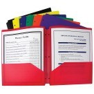 Two-Pocket Heavyweight Folder, 3-Hole Punch, Assorted Colors