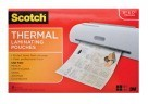 Scotch Menu Size Laminator Pouch, 11-1/2 X 17-1/2 In., 3 mil Thickness, Clear - 25/Pkg