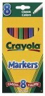 Crayola Original Watercolor Markers, Classic, Conical, Fine Tip - 8/Set - CYO587709