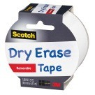 "1.88"" X 5 Yds. Scotch Removable Dry Erase Tape, White"