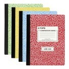 Composition Book,  Wide Ruled, 7-1/2 x 9-3/4 Inch, 100 Sheets, Assorted Colors