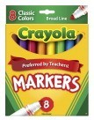 Crayola Original Watercolor Markers, Classic, Conical, Broad Tip - 8/Set - CYO587708