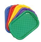 "Art Tray, Plastic15 X 10-1/2"", Assorted Colored - 5/Pkg"