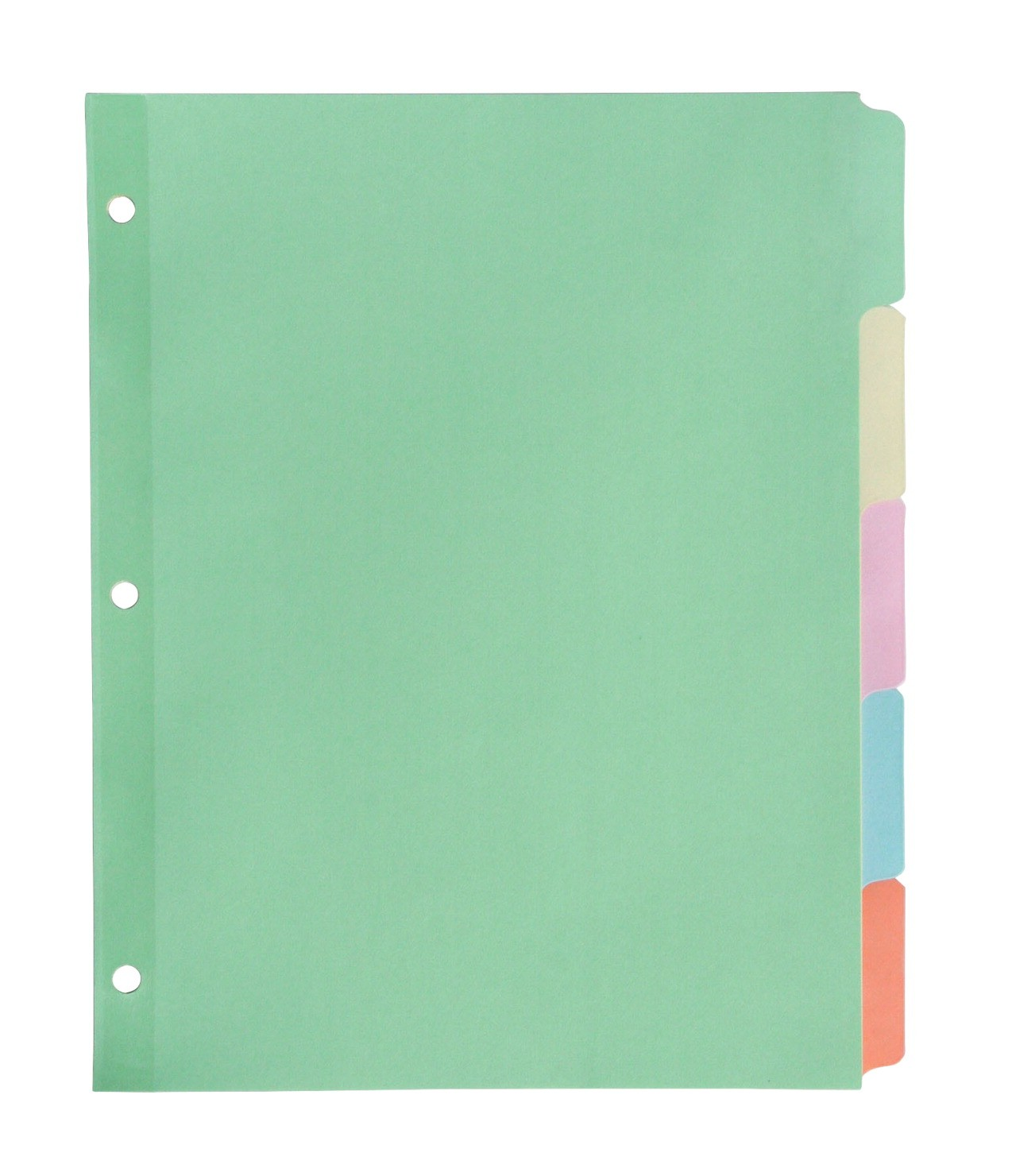 Erasable Tab Dividers, 8-1/2 X 11, Assorted Colors, 5 Per Pack