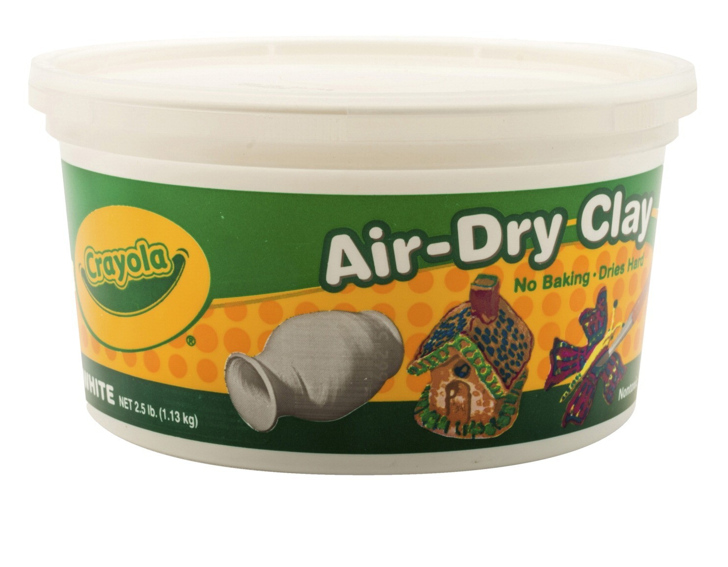 Crayola Air-Dry Modeling Clay, 5-Lb. Bucket, White
