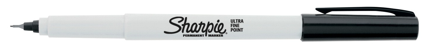 Sharpie Permanent Marker, Ultra Fine Point - Black - 12/Pkg