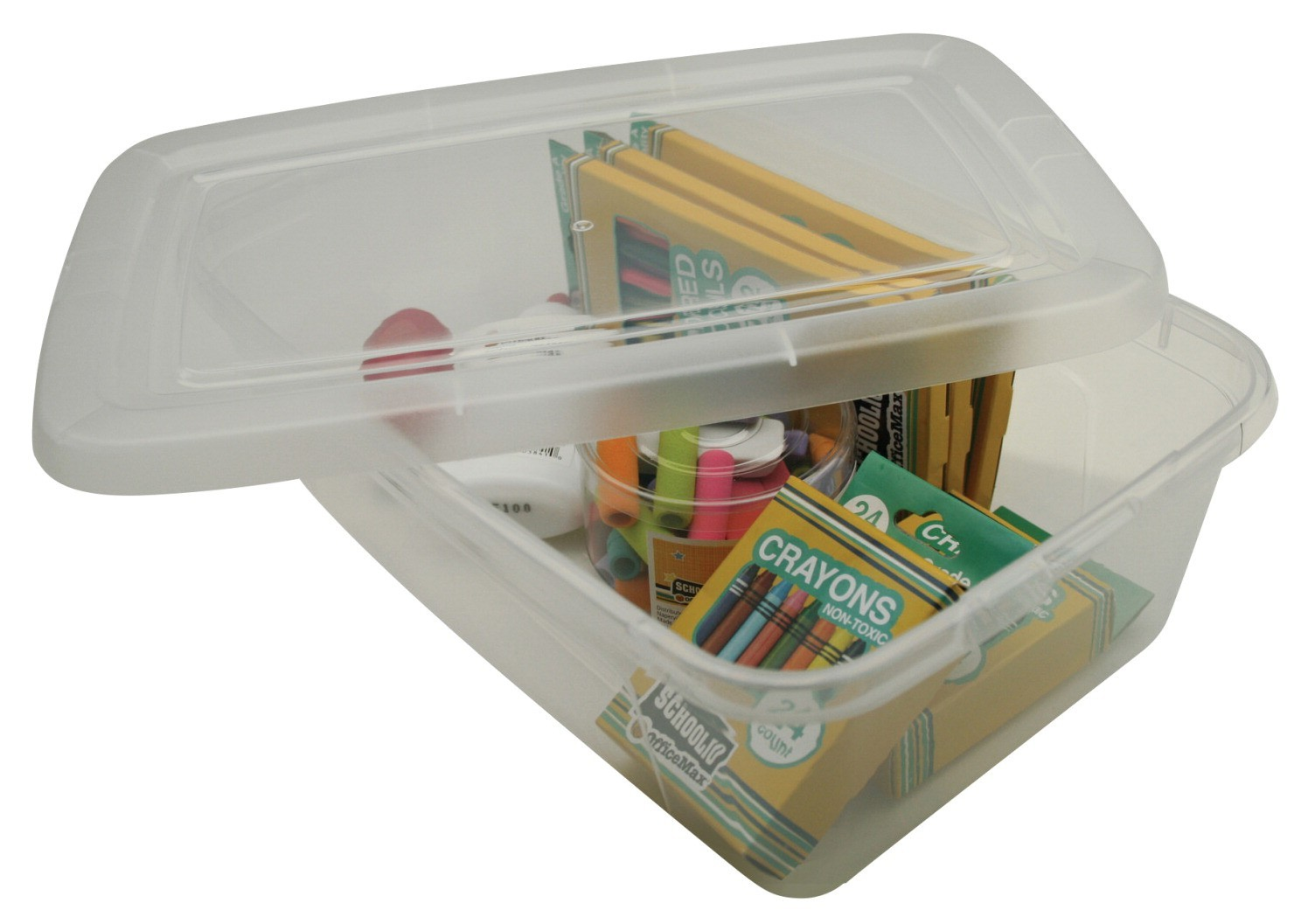 Storage Box 6 Quart Shoe Box 8-5/8in. W x 13-1/2in L x 4-1/2in H