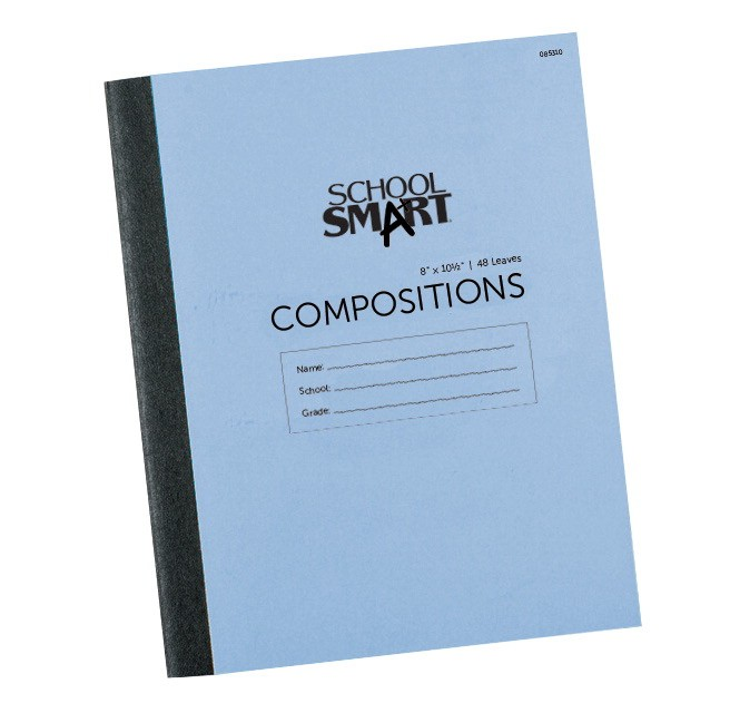 Stitched Cover Composition Book, 10-1/2 X 8 - Red Margin - 48 Sheets