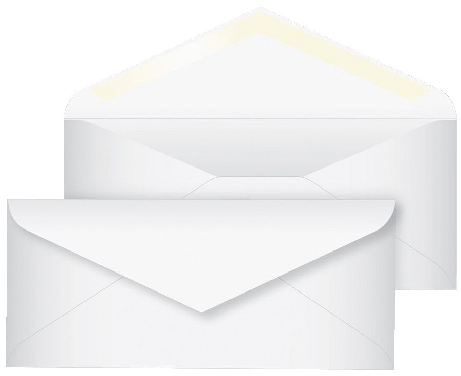 #10 Envelopes Plain, 4-1/8 X 9-1/2, Paper, White - 500/Pkg