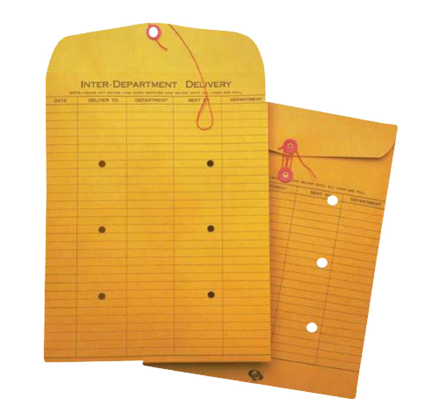 10 X 13 Inter-Department Envelopes, String and Button Closure - 100/Pkg