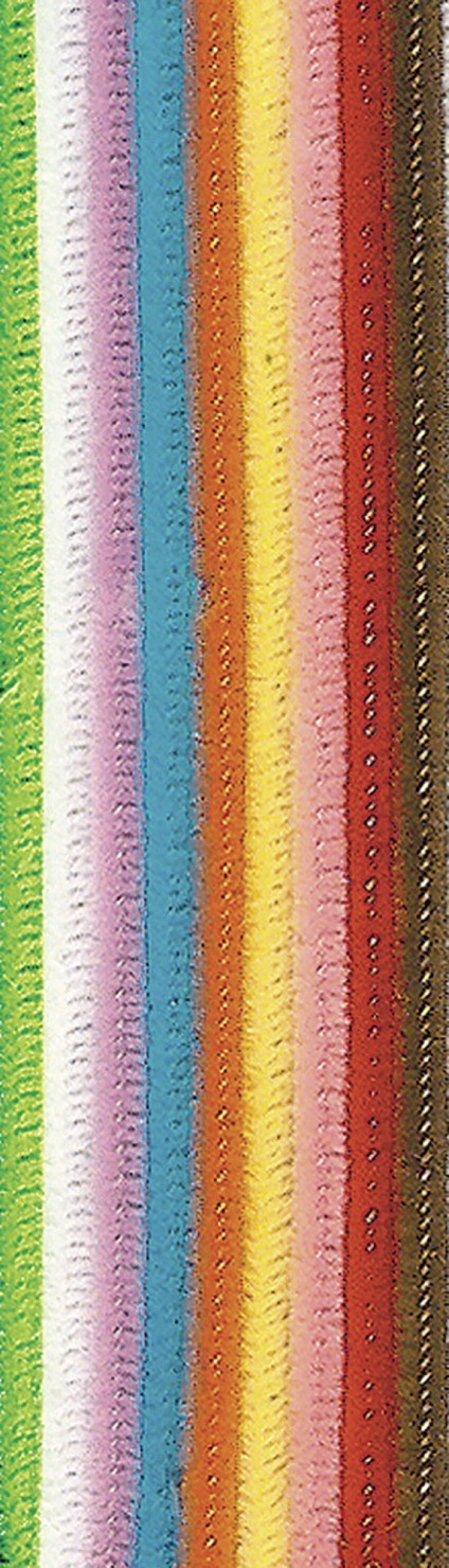 "Pipe Cleaners 12"" - Assorted Colors - 100/Pkg"