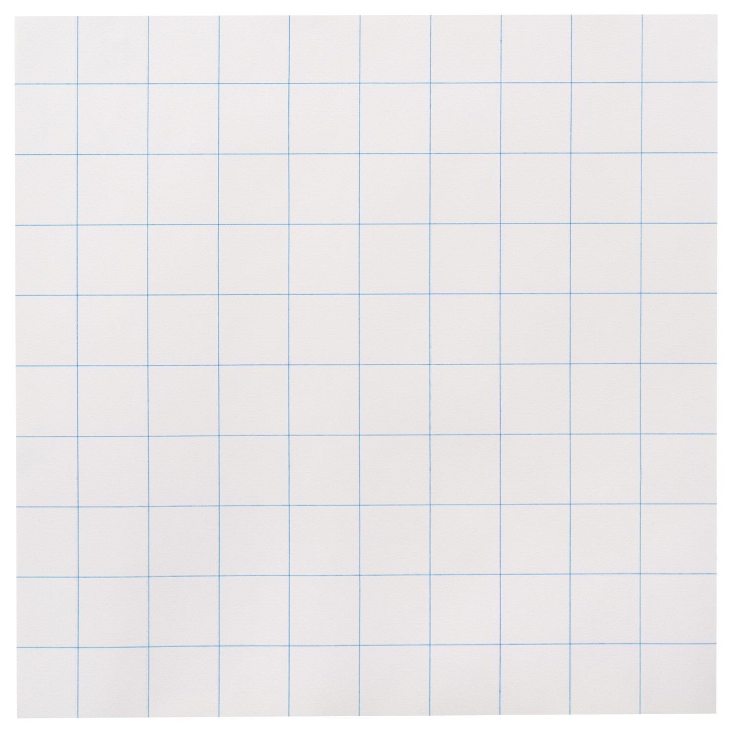 School Smart 3-Hole Punched Graph Paper, 1 in Ruling, Double-Sided, 10 X 10 in, 15 lb, White, Pack of 500